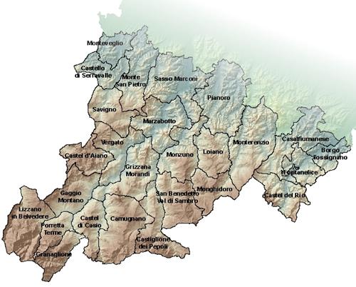 Provincia Bologna Cartina.Appennino Bolognese Botteghe Storiche Citta Metropolitana Di Bologna