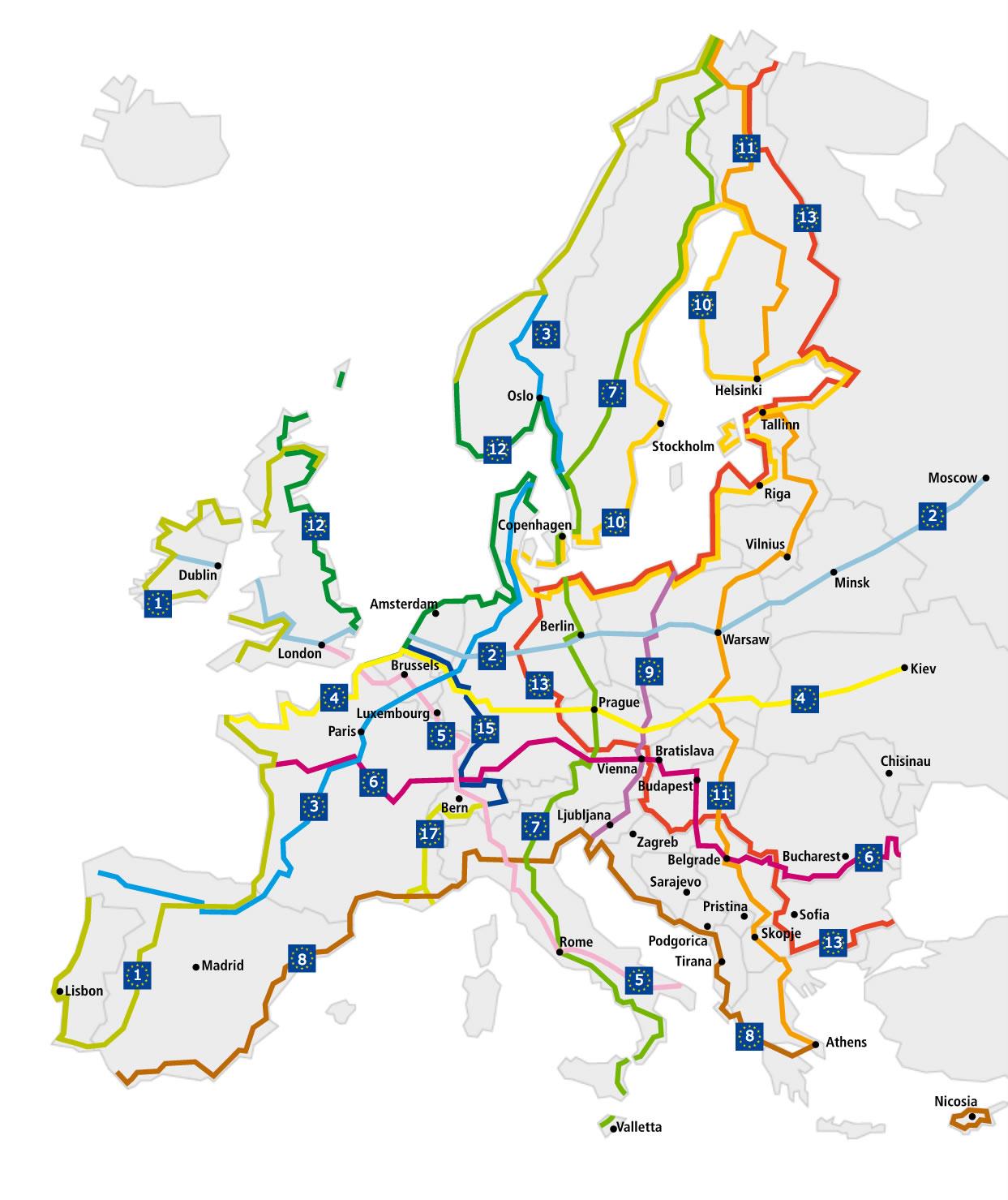 Cartina percorso Eurovelo