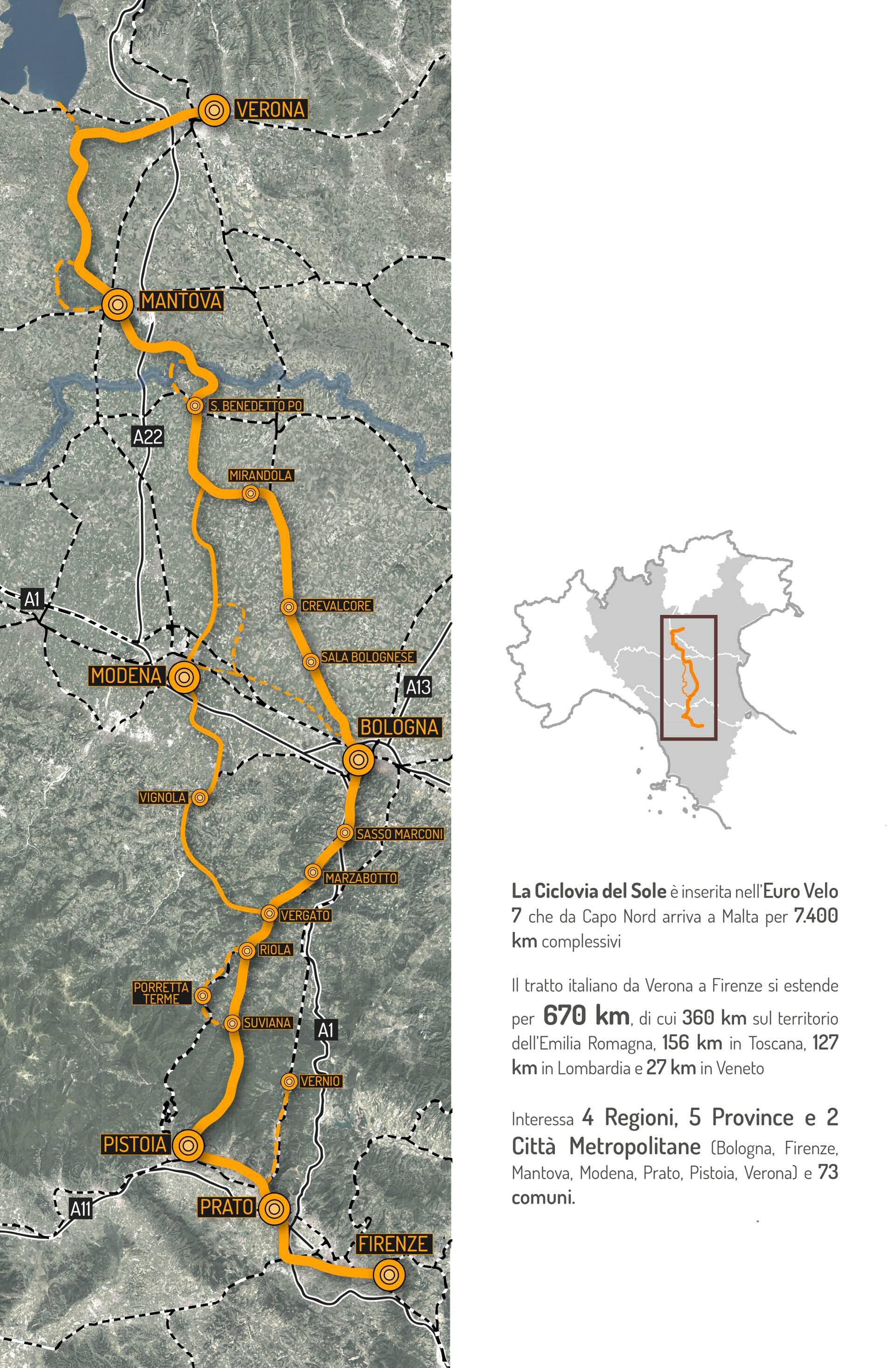Mappa tracciato giallo