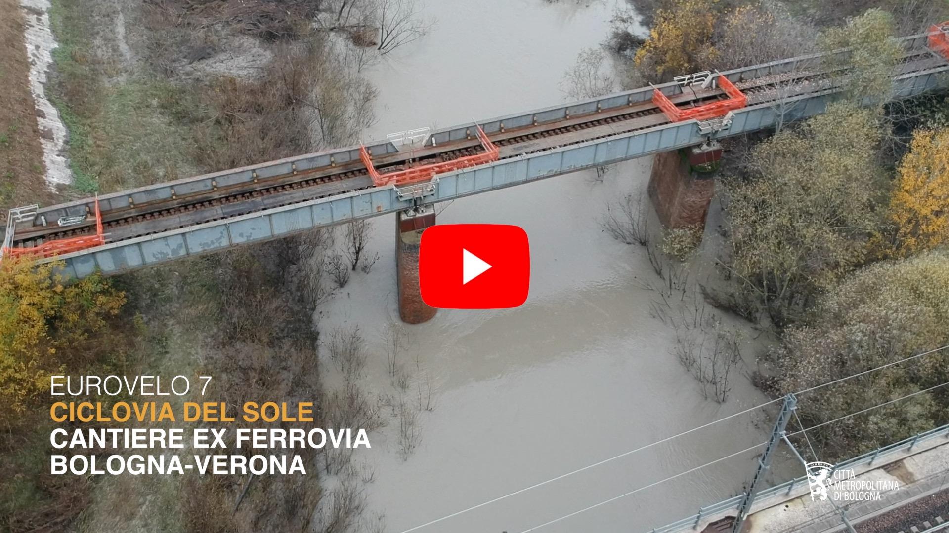Ciclovia del Sole, il ponte sul Panaro Camposanto. Febbraio 2020