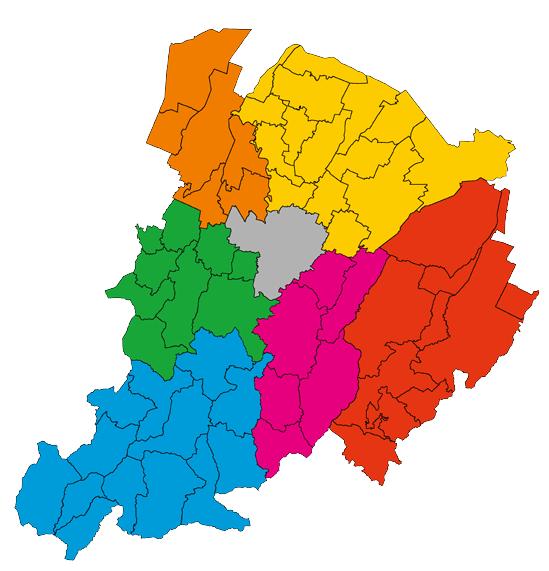 Mappa dei distretti