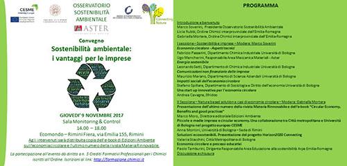 I progetti CESME e CONNECTING NATURE a Ecomondo 2017