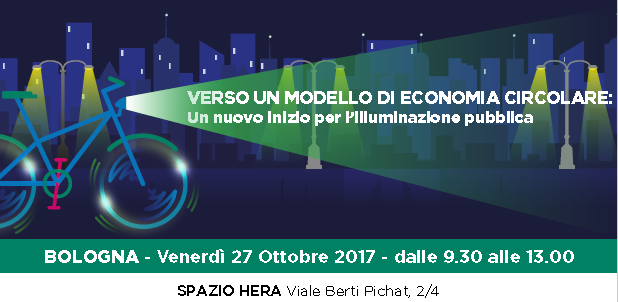 Il 27 ottobre a Bologna convegno Hera sull'Economia Circolare per l'illuminazione pubblica