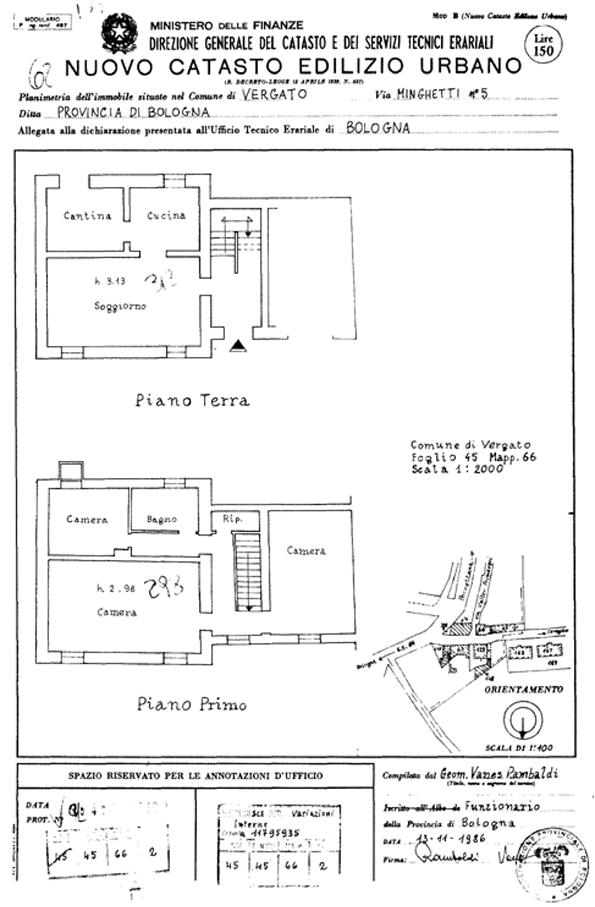 Patrimonio pubblicata l 39 asta per la vendita del for Planimetrie della casa del garage