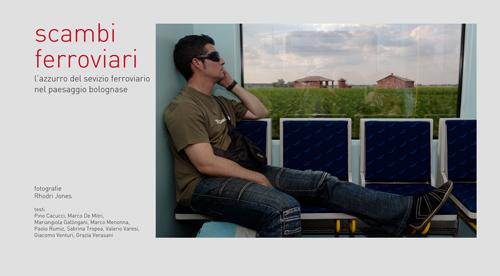 SCAMBI FERROVIARI_ L'azzurro del servizio ferroviario nel paesaggio bolognese