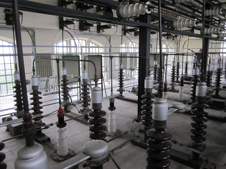 Vecchia centrale elettrica - vista interna