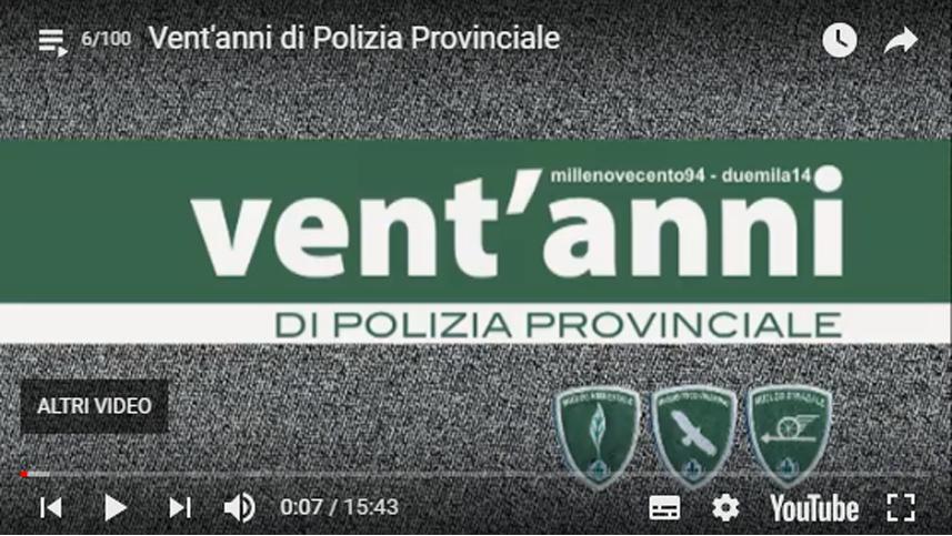 Vent'anni di Polizia Provinciale