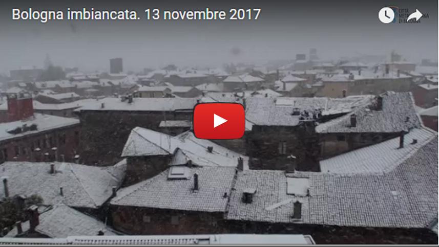 Bologna imbiancata. 13 novembre 2017