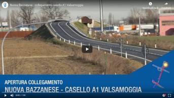 Valsamoggia, apre il raccordo tra la Nuova Bazzanese e il casello autostradale dell'A1