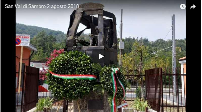 San Benedetto Val di Sambro, 2 agosto 2018. Per ricordare le stragi Italicus e Rapido 904