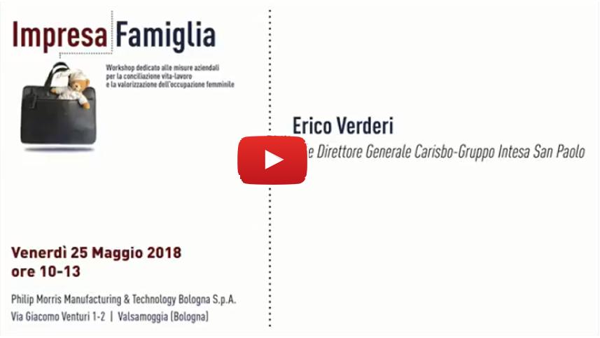 Erico Verderi, Carisbo - Gruppo Intesa San Paolo