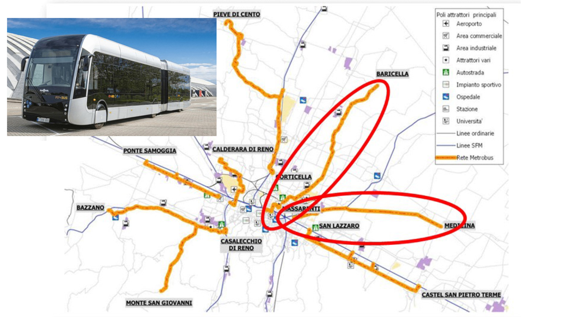 """Mobilità, ecco le prime due linee di """"Metrobus"""" elettrico: per la prima volta un sistema di trasporto rapido arriva sulle strade extraurbane"""