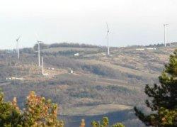Panoramica del Parco eolico - Archivio Provincia di Bologna