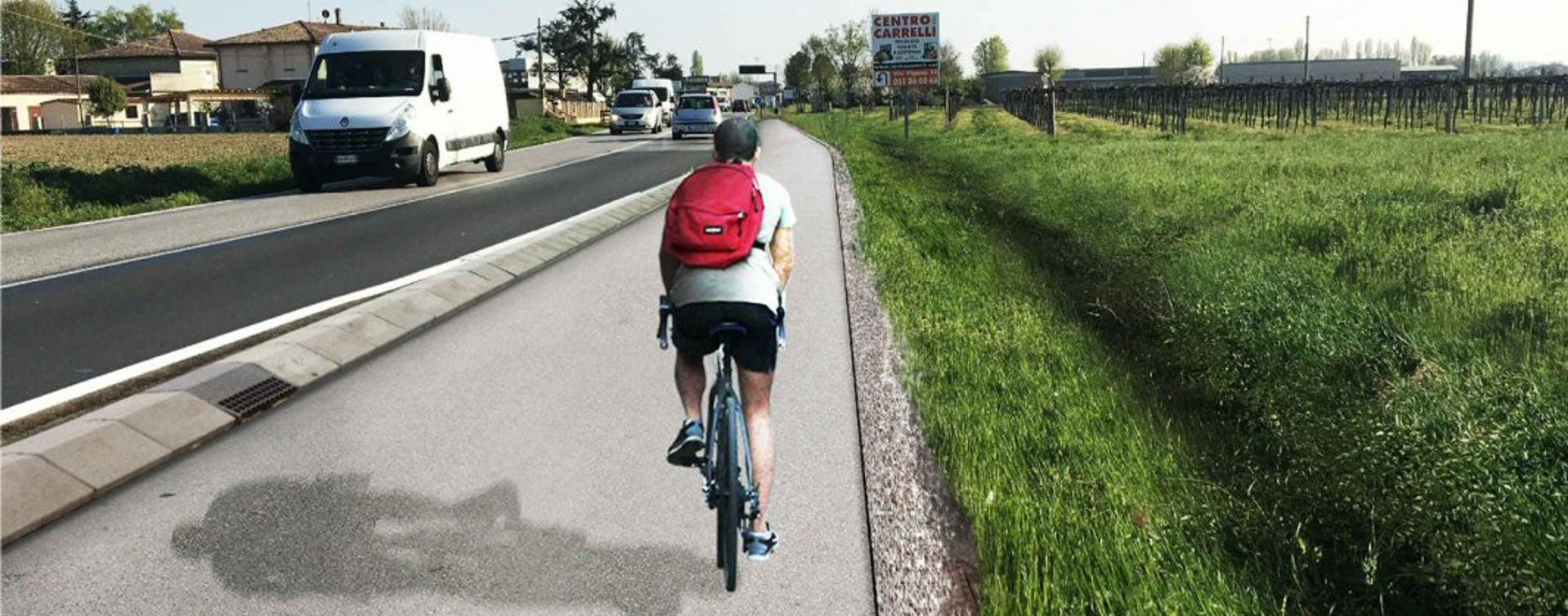Rendering ciclabile Reno Galliera