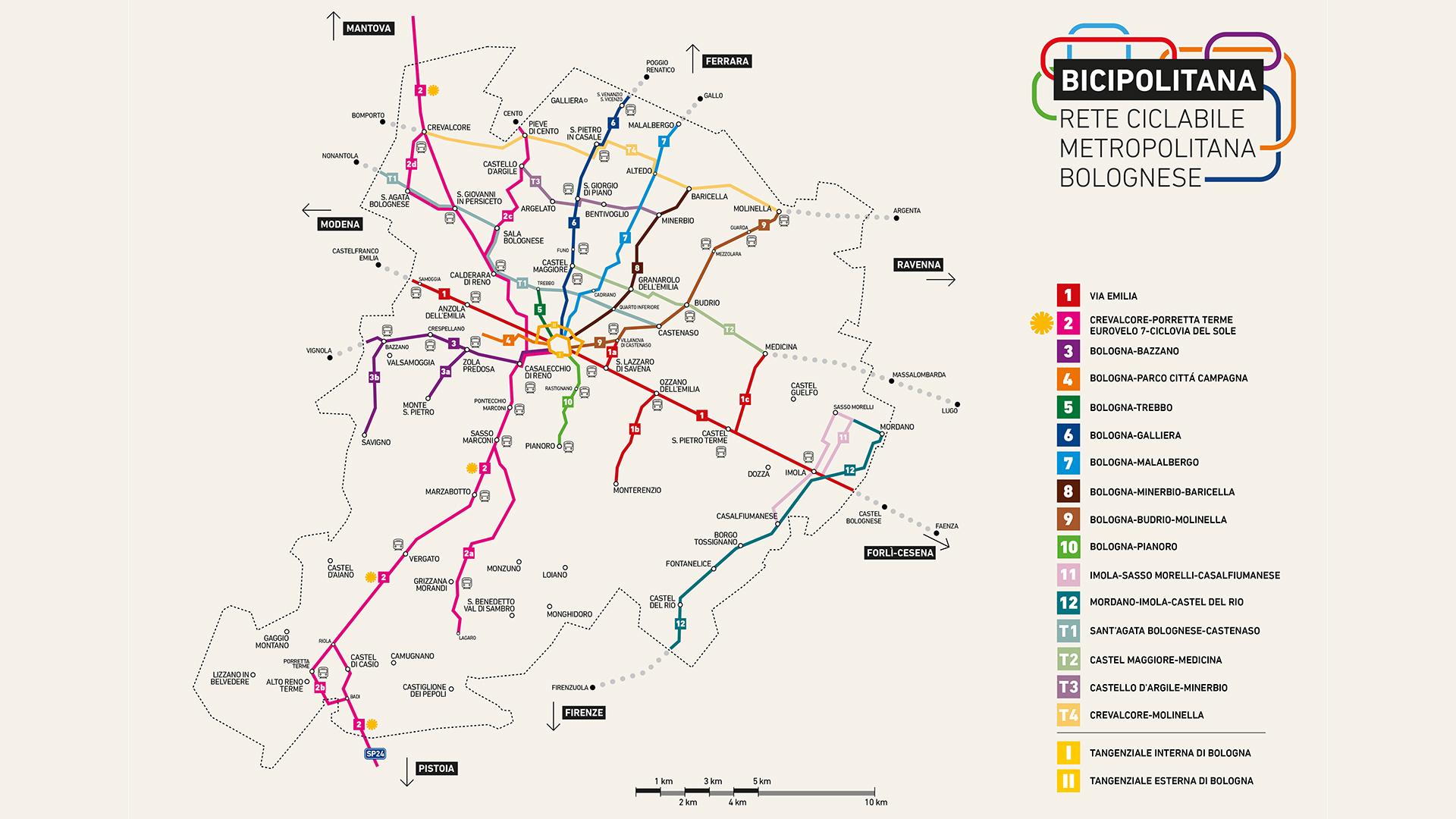 Bicipolitana, al via la realizzazione delle ciclabili per collegare i comuni dell'hinterland a Bologna