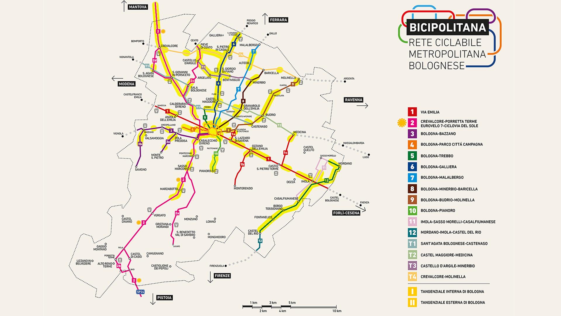Bicipolitana bolognese, inaugurata la rete delle piste ciclopedonali della pianura bolognese