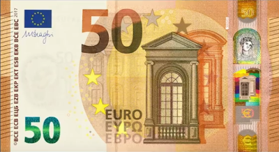 La nuova banconota da 50 Euro - Dal sito della Banca d'Italia