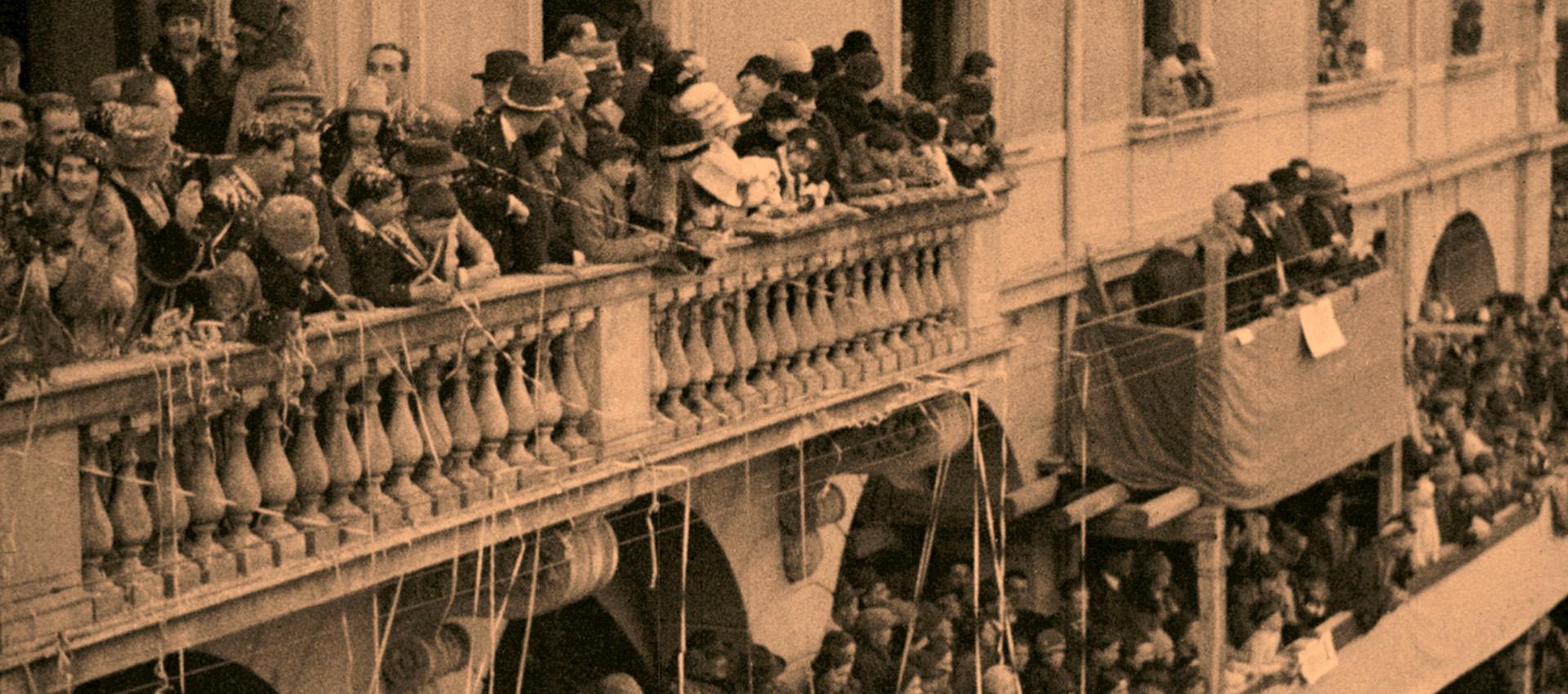 Carnevale a Persiceto, immagine dal filmato del 1928