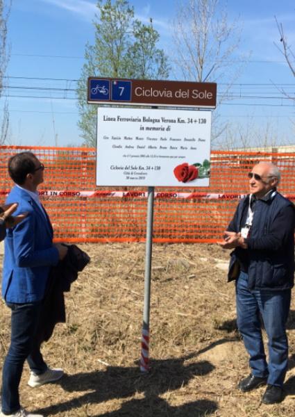 Ciclovia del Sole, al via a Crevalcore il cantiere sull'ex ferrovia Bologna-Verona