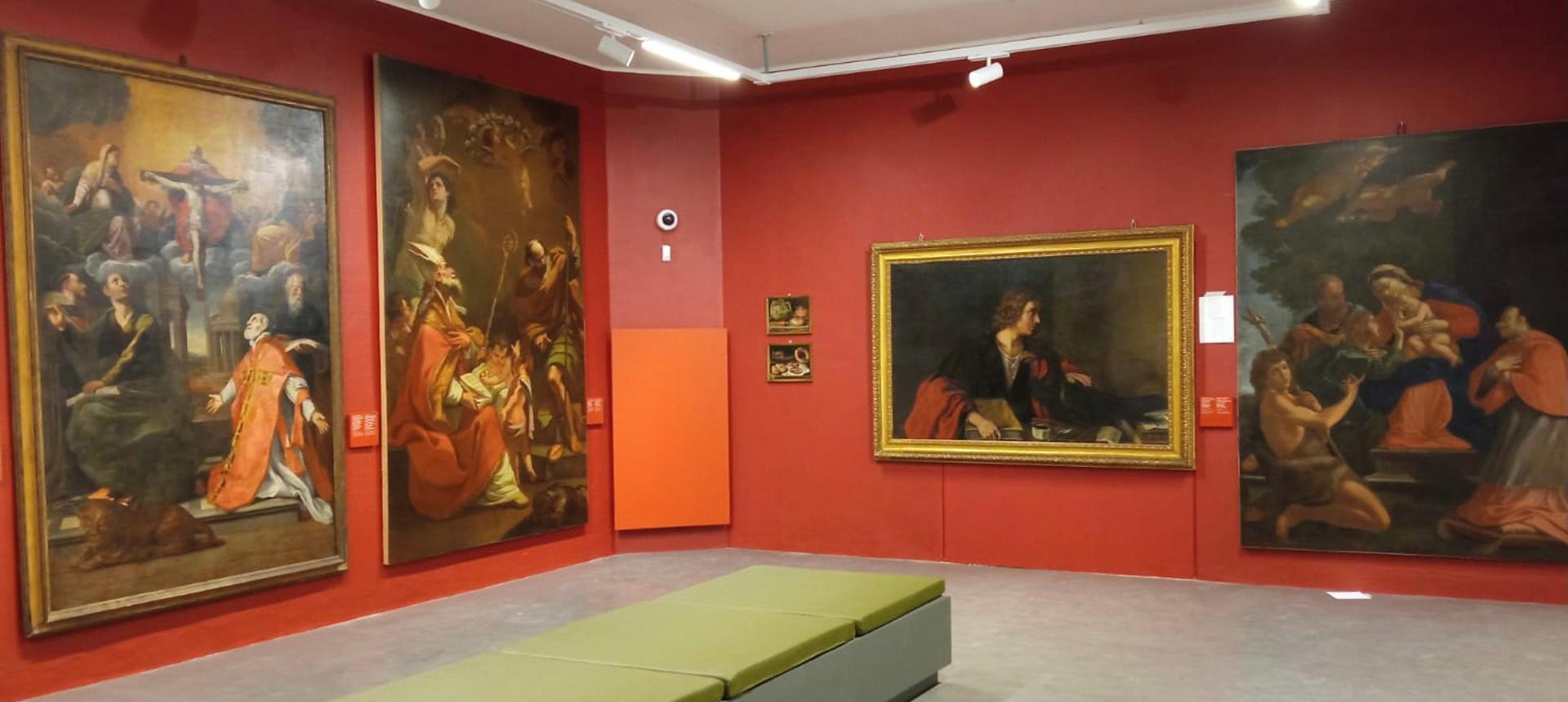 Il nuovo allestimento della Pinacoteca all'interno de Le Scuole - Comune di Pieve di Cento