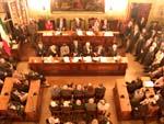 Sala Consiglio vista dall'alto - Archivio Provincia di Bologna