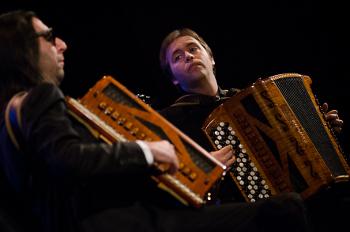 Daniele Donadelli e Massimo Tagliata. Foto ParoleMusica2015