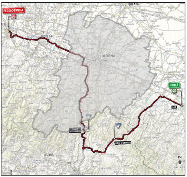 Il percorso del Giro attraverso la città metropolitana