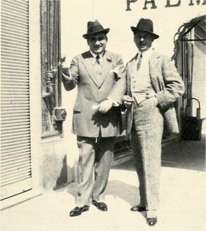 Giuseppe Alberghini con Enrico Caruso
