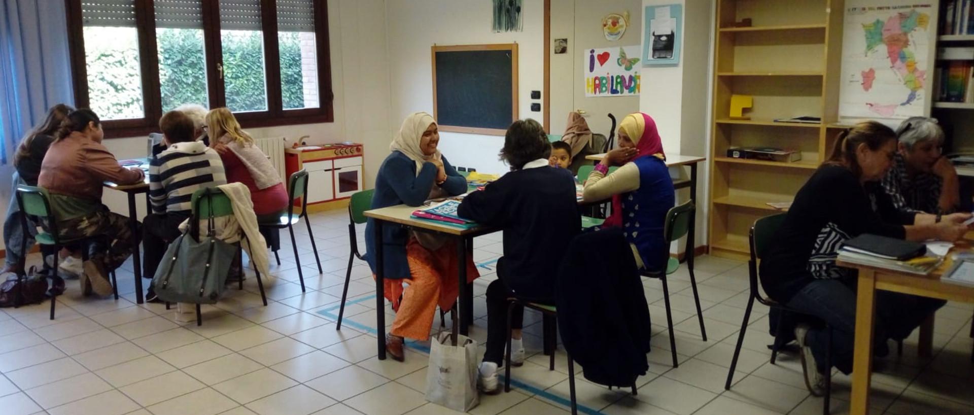 Foto: classe di stranieri
