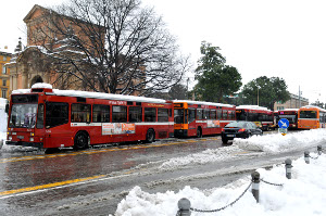 Bus in città - Foto Archivio Città Metropolitana