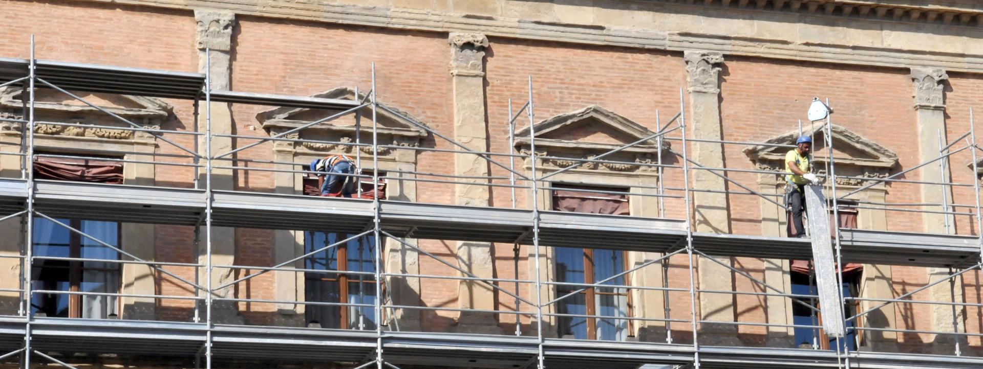 Lavori di restauro a palazzo Malvezzi - Archivio Città metropolitana di Bologna
