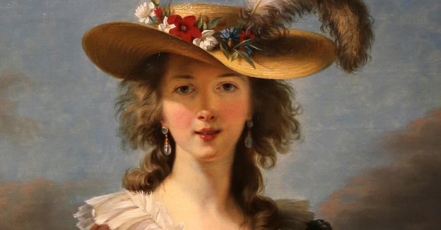 Élisabeth Louise Vigée Lebrun,Autoritratto con il cappello di paglia, Londra, National Gallery, 1782 circa
