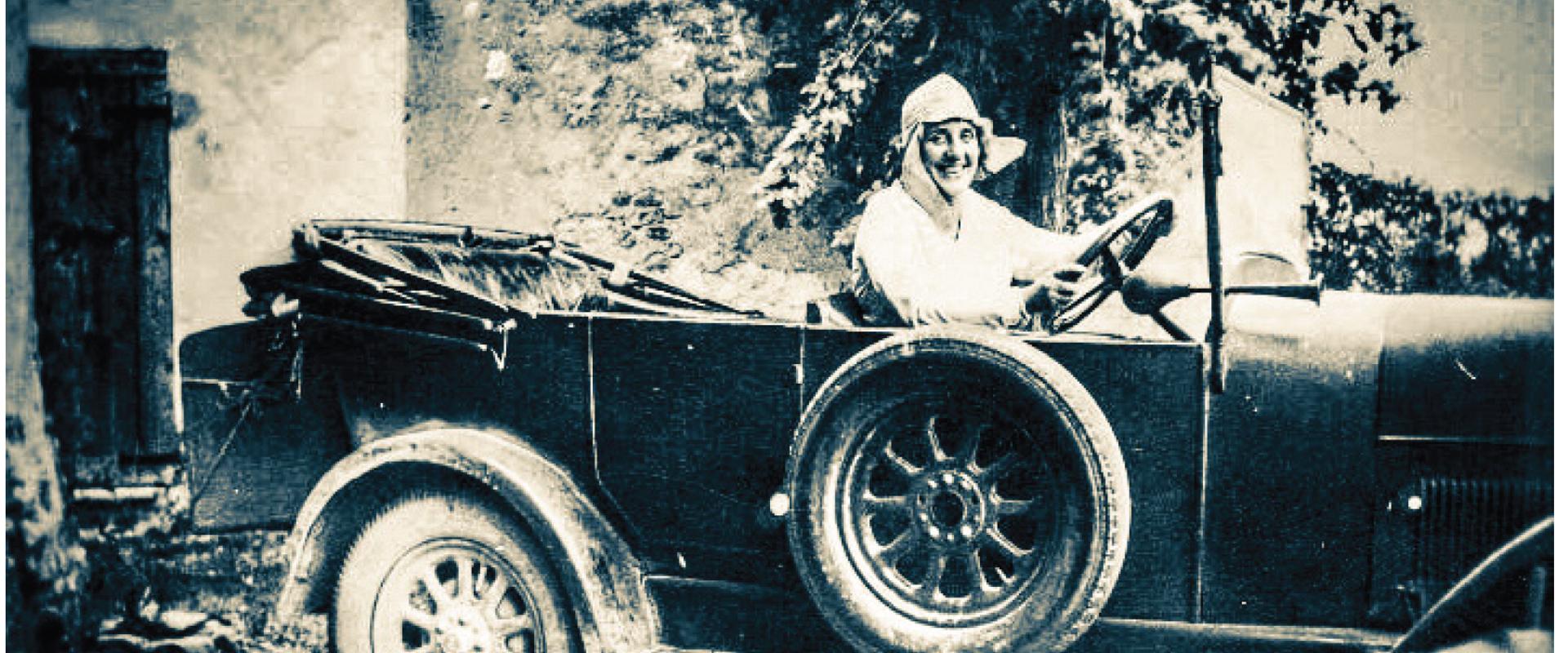 Foto: Camilla Partengo, prima donna a prendere la patente. Fonte Comune di Budrio