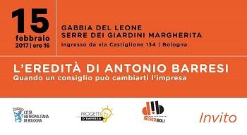 Invito - L'eredità di Antonio Barresi
