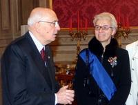 Il presidente della Repubblica Napolitano e la presidente della Provincia, Draghetti