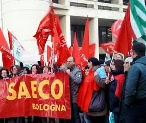 Manifestazione dei lavoratori Saeco