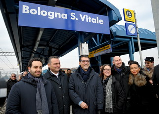 Inaugurazione della Stazione San Vitale - Archivio Città metropolitana di Bologna