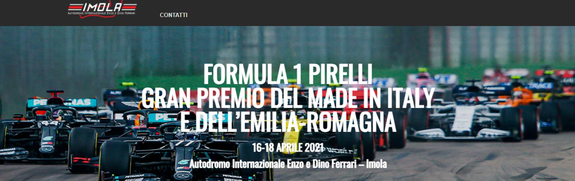 Immagine dal sito dell'autodromo di Imola