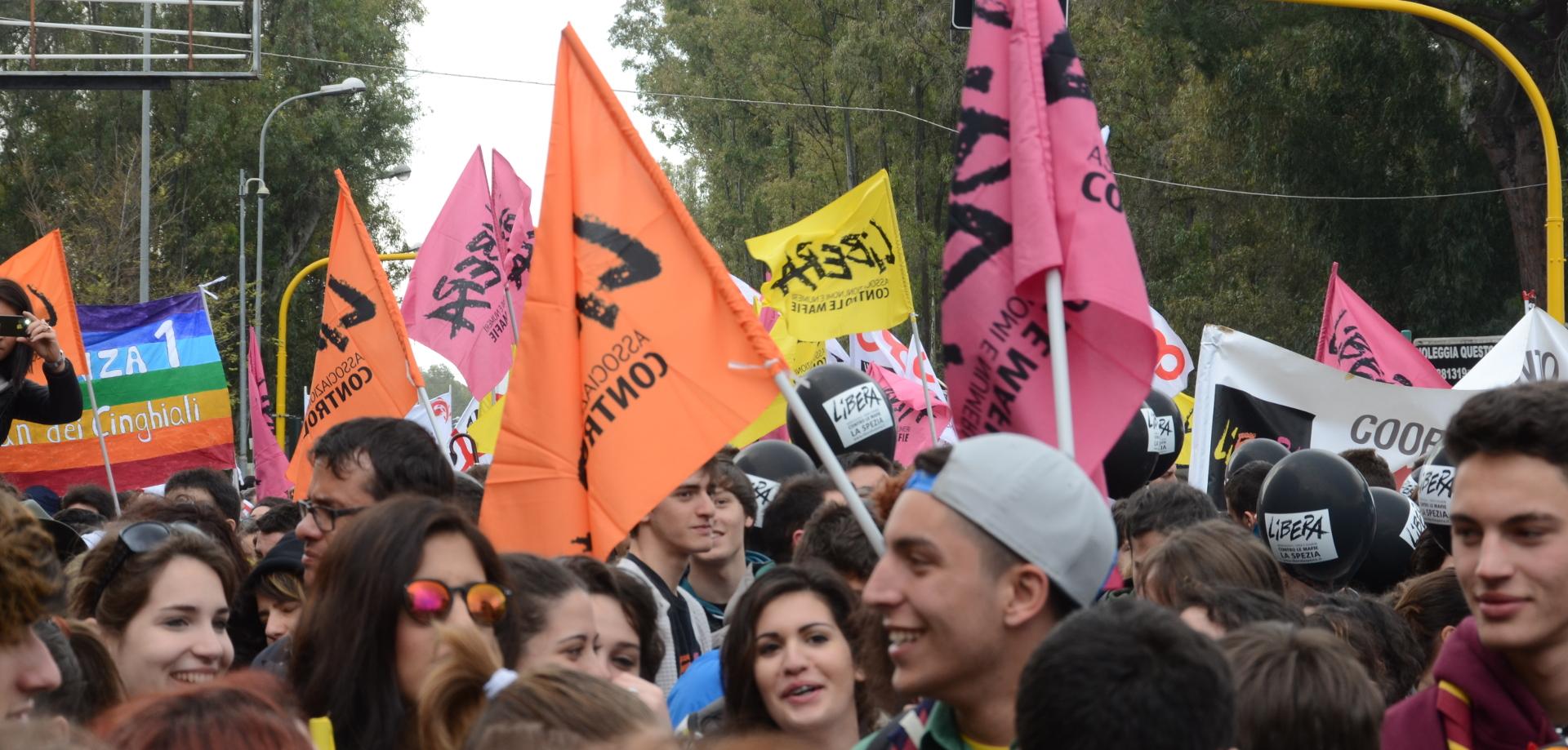 Manifestazione di Libera a Bologna. Foto dal sito http://www.memoriaeimpegno.it