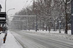 Strada con neve - Archivio Città metropolitana di Bologna