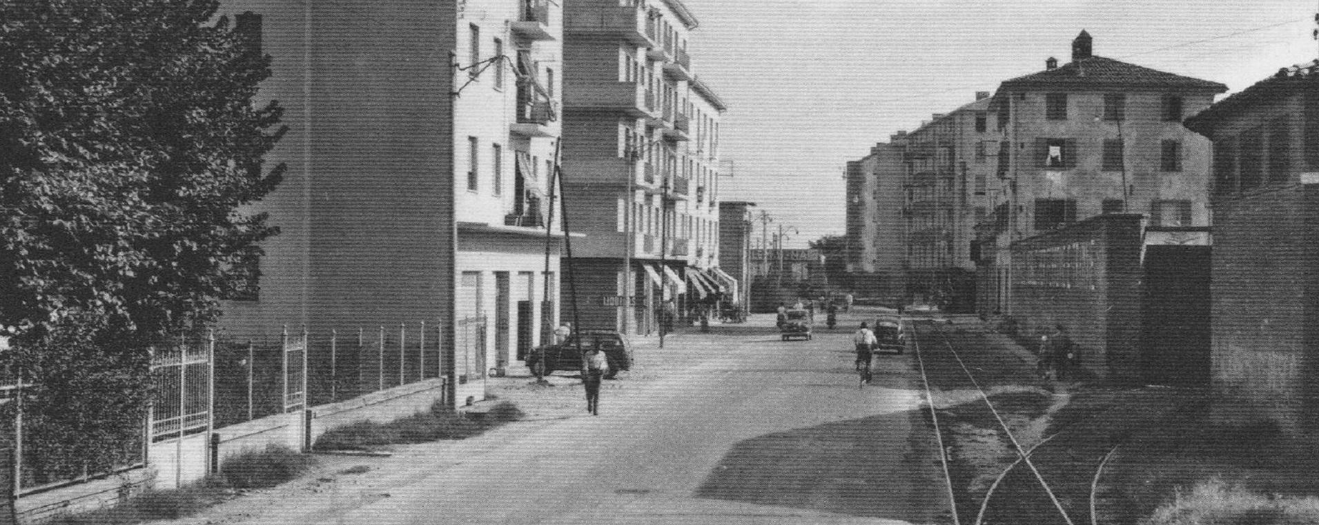 Immagine storica di via Ferrarese