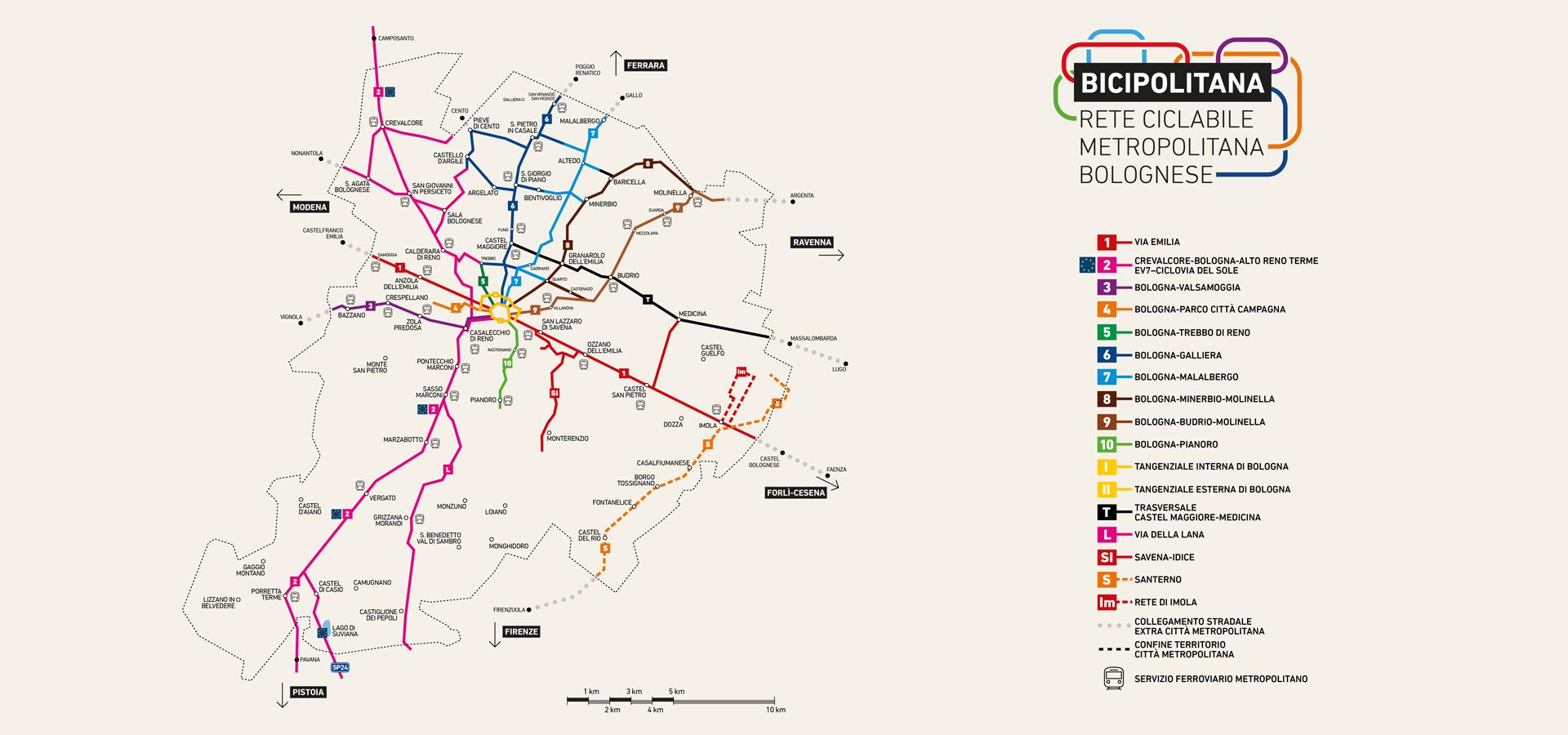 Mappa della rete ciclabile