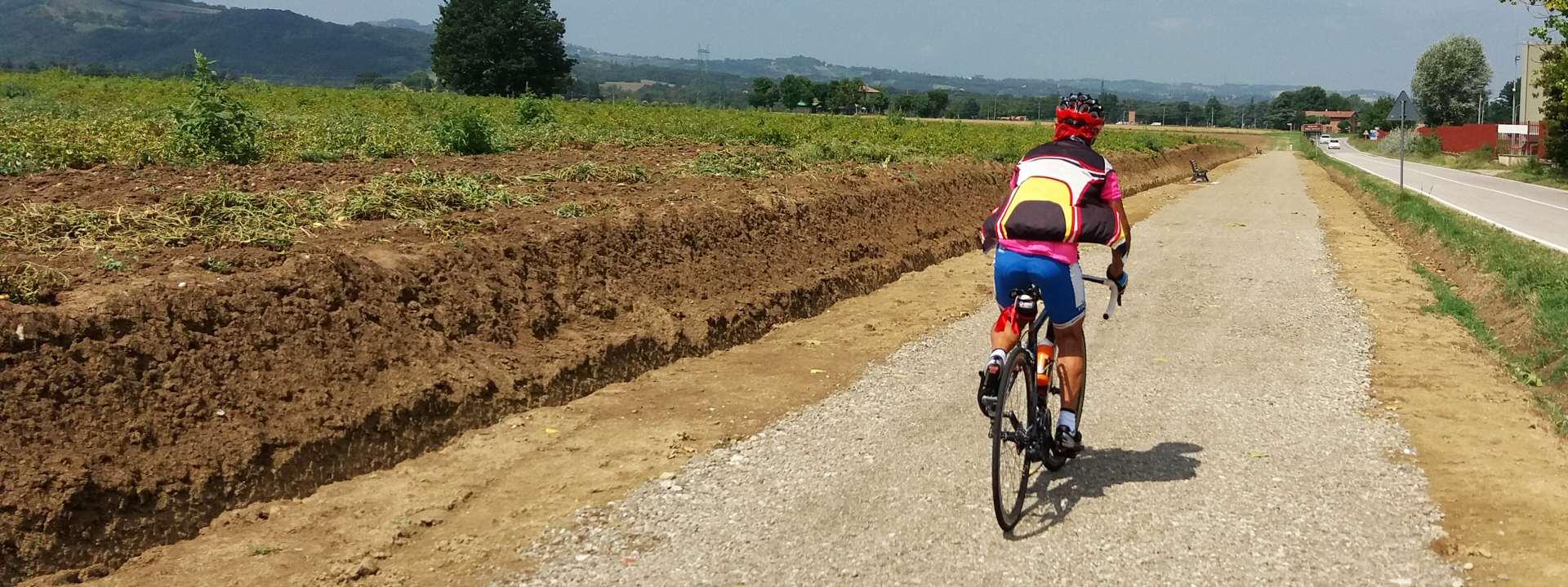 Foto: la pista ciclopedonale - Archivio Città metropolitana di Bologna
