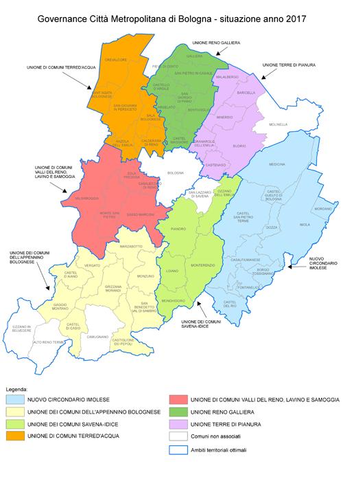 Territorio della provincia di Bologna - 2017