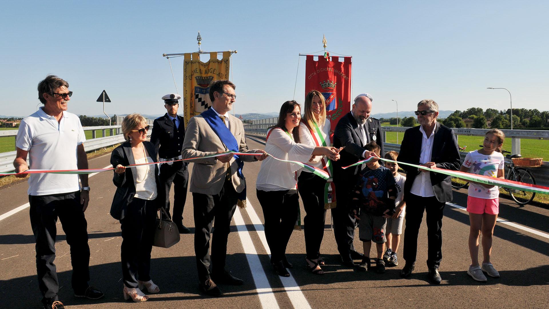 Inaugurazione SP 87 Nuova Galliera