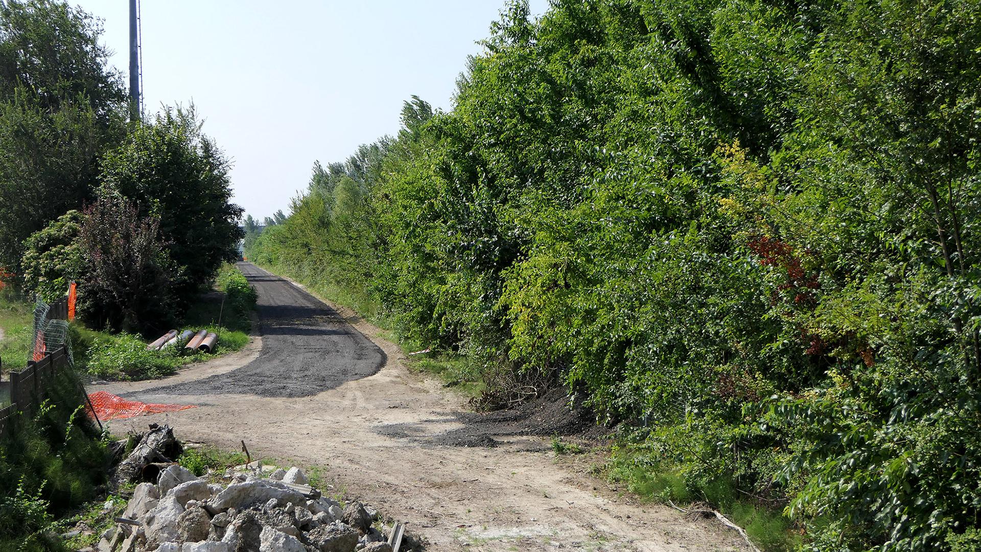 Cantiere Ciclovia del Sole ex ferrovia Bologna-Verona