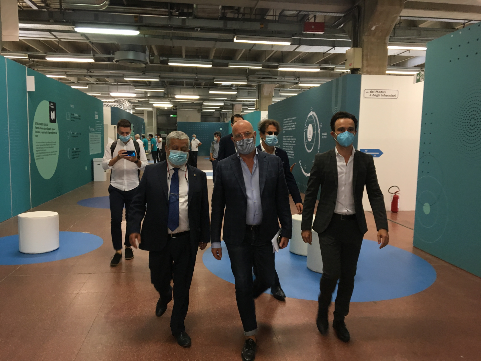 Gianpiero Calzolari, Stefano Bonaccini, Daniele Ruscigno