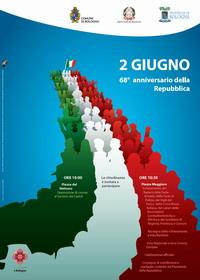 Manifesto del 68° anniversario della Repubblica