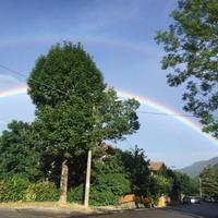 Doppio arcobaleno a Vidiciatico