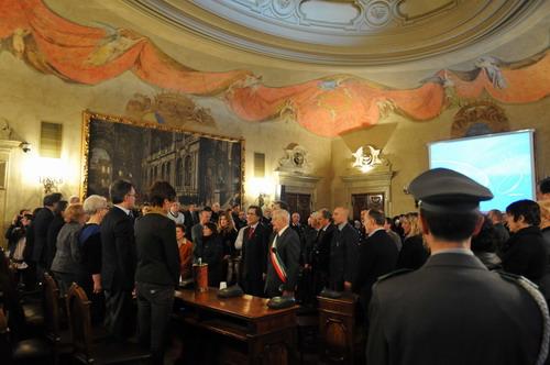 05/01/2011 - Un momento del Consiglio provinciale dedicato alle vittime della banda della Uno bianca, in occasione del XX anniversario della strage del Pilastro
